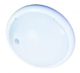 Luminária com Sensor de presença e Fotocelular redonda