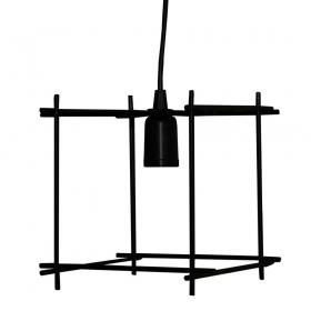 Pendente de Teto Aramado Modelo Berlim cor Preto