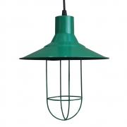 Pendente de Teto Gaiola Aramado Modelo Cage cor Verde