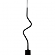 Pendente de Teto Modelo ZigZag - Preto Fosco