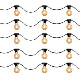 Varal de luz 5 metros - 10 soquetes E27 cordão cor Preto