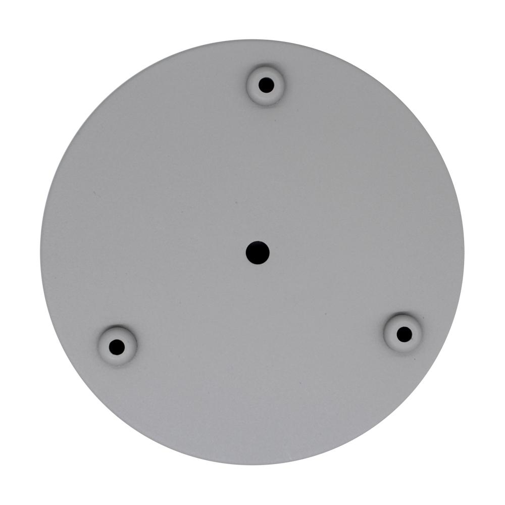 Canopla com Três Furos em Alumínio Cimento - Cinza