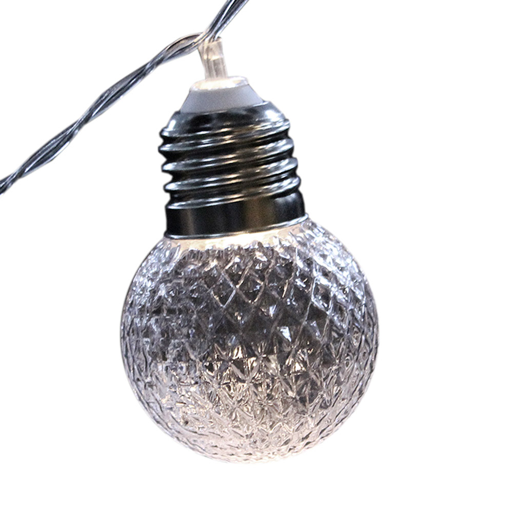 Cordão de Luz com 20 Lâmpadas de Cristal 3000K G50 220V