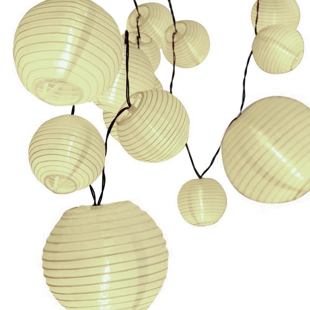 Cordão de luz com bolinhas de papel 3000K 1,5W 127V