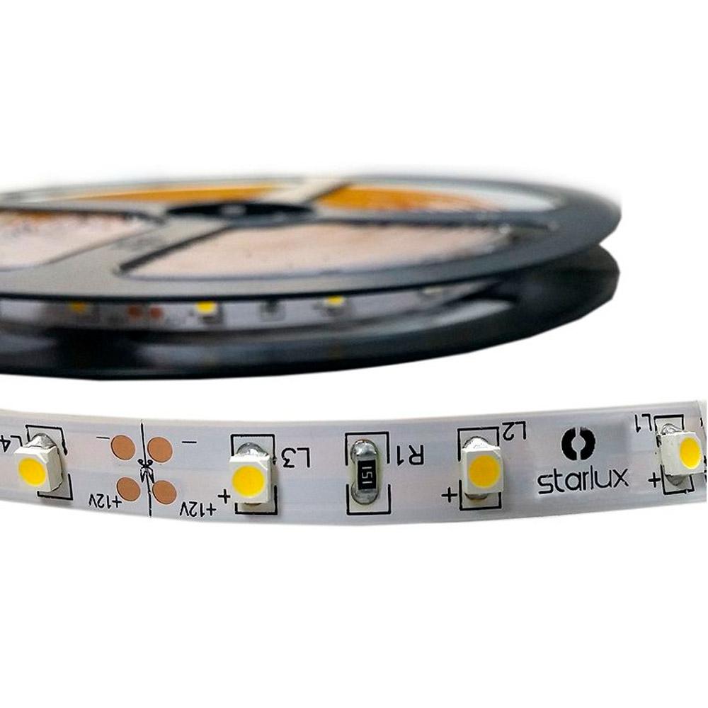 Fita LED IP20 (sem silicone) SMD3528 12V 5 metros AMBAR