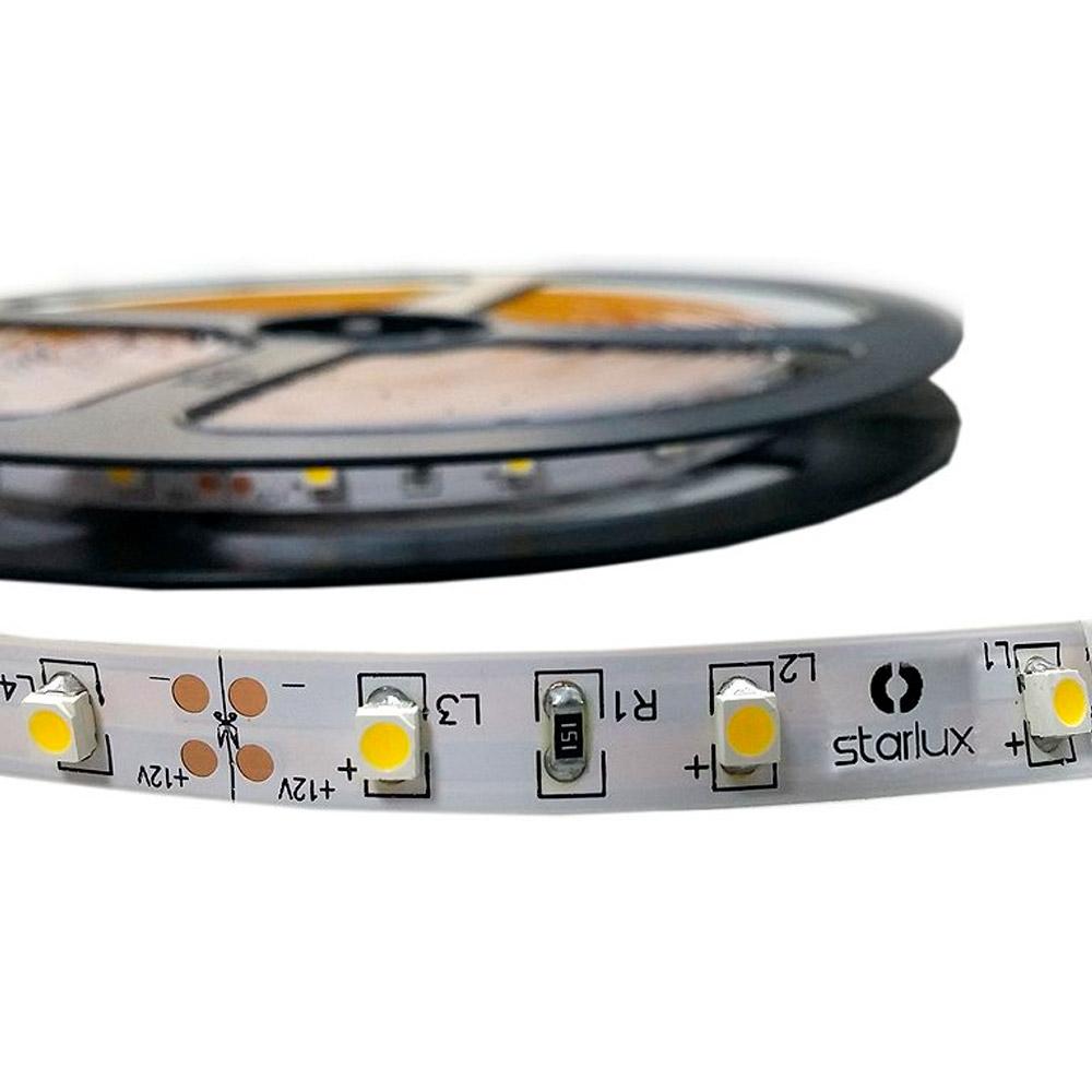 Fita LED IP20 (sem silicone) SMD3528 12V 5 metros VERMELHO