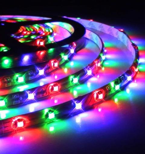 Fita LED IP20 (sem silicone) SMD 5050 12V 5 metros RGB