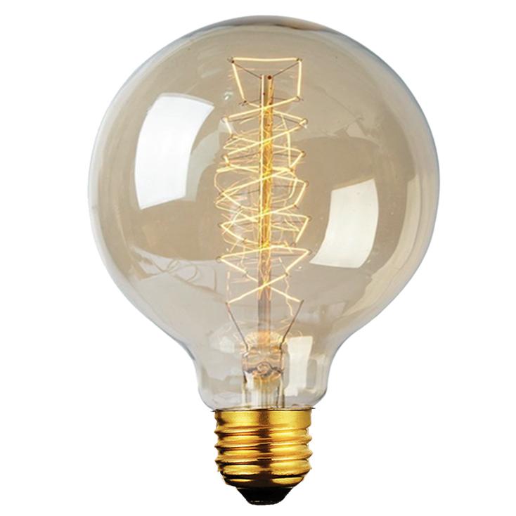 Lâmpada Filamento de Carbono Vintage  G95 40W 220 - 240V