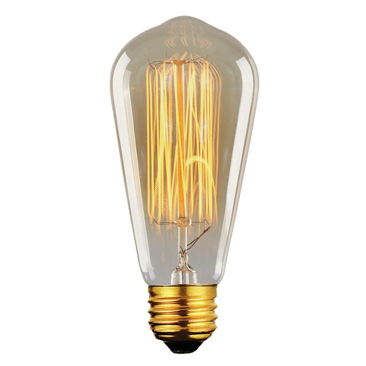 Lâmpada Filamento de Carbono Vintage  ST64 40W 110 - 110V