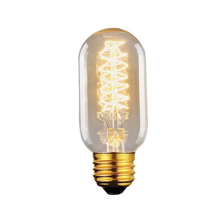 Lâmpada Filamento de Carbono Vintage  T45 40W 110 - 110V