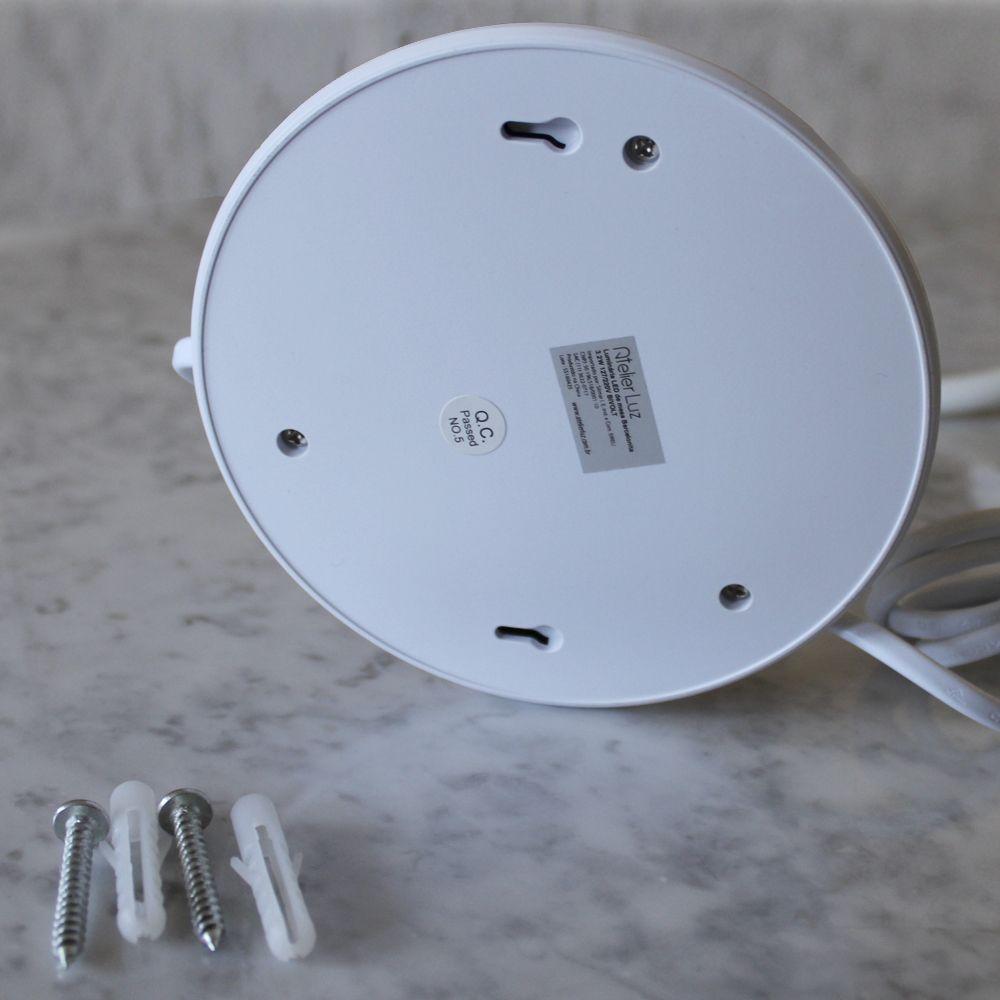 Luminária LED de Mesa ou Cabeceira Barcelonita Bivolt Branca