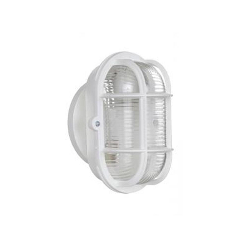 Luminária Tartaruga Oval Branca para 1 lâmpada