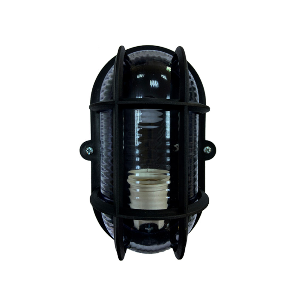 Luminária Tartaruga Oval preta para 1 lâmpada