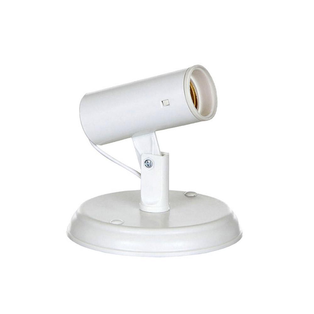 Spot Liso Flex Branco de Plástico para 1 lâmpada