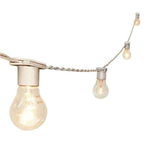 Varal de Luz com 5 metros e 10 soquetes Branco (Festão)