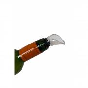 Bico Corta Gotas para vinhos, em Acrílico com anel de vedação em borracha
