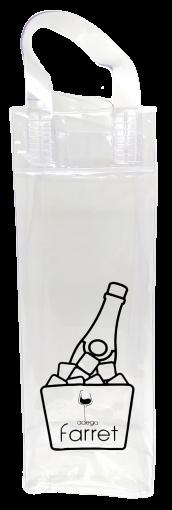 Bolsa PVC Transparente para Gelo e para 1 gf  - ADEGA FARRET