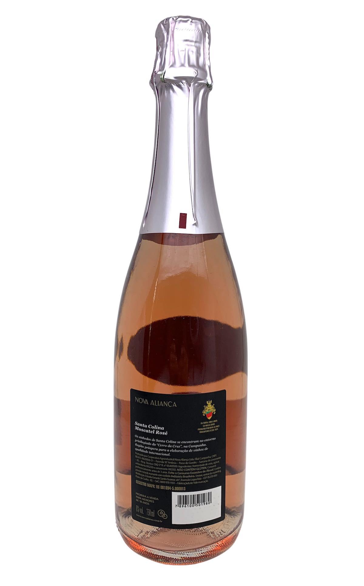 Espumante Santa Colina Moscatel Rosé 750mL  - ADEGA FARRET