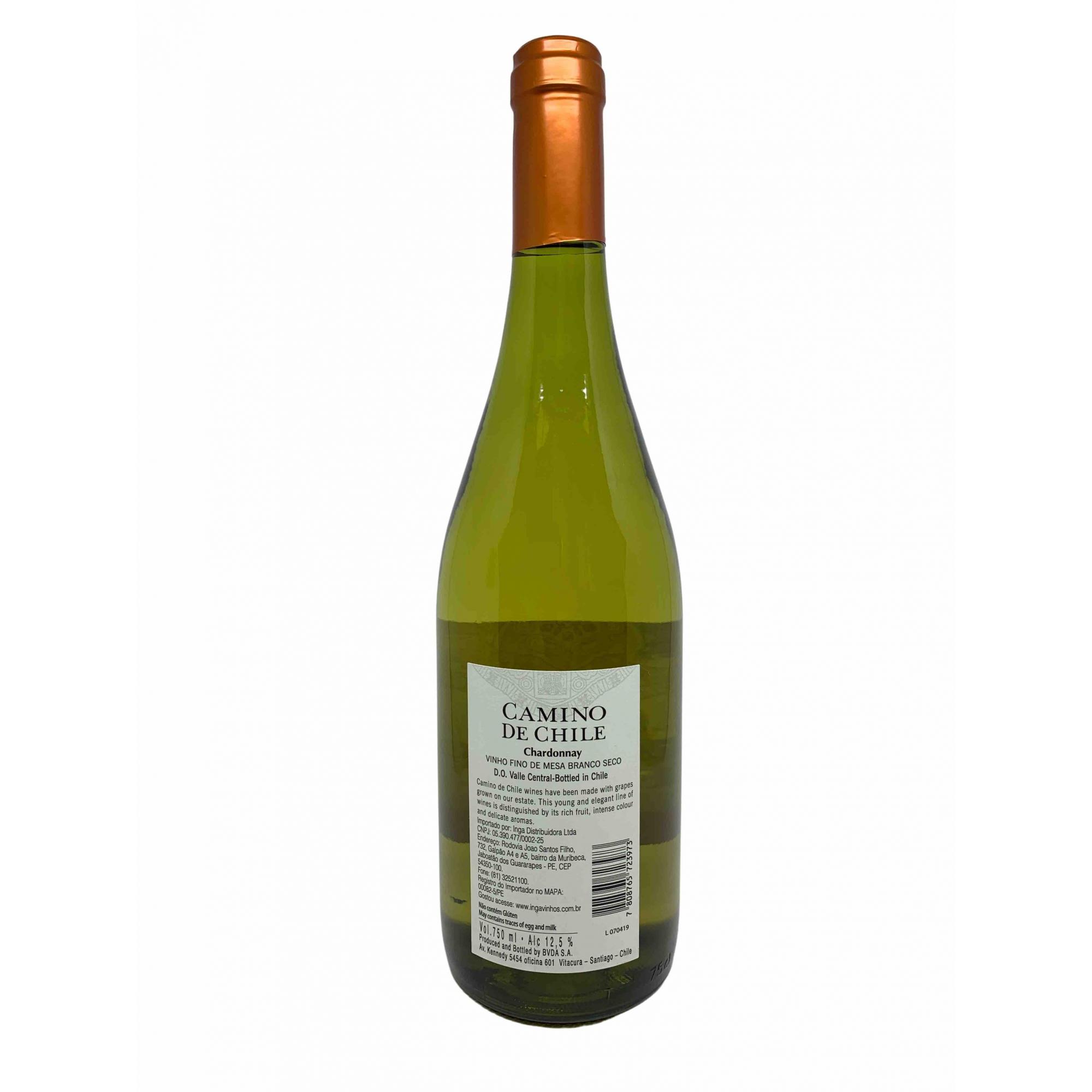 Vinho Branco Camino de Chile Chardonnay 750mL  - ADEGA FARRET