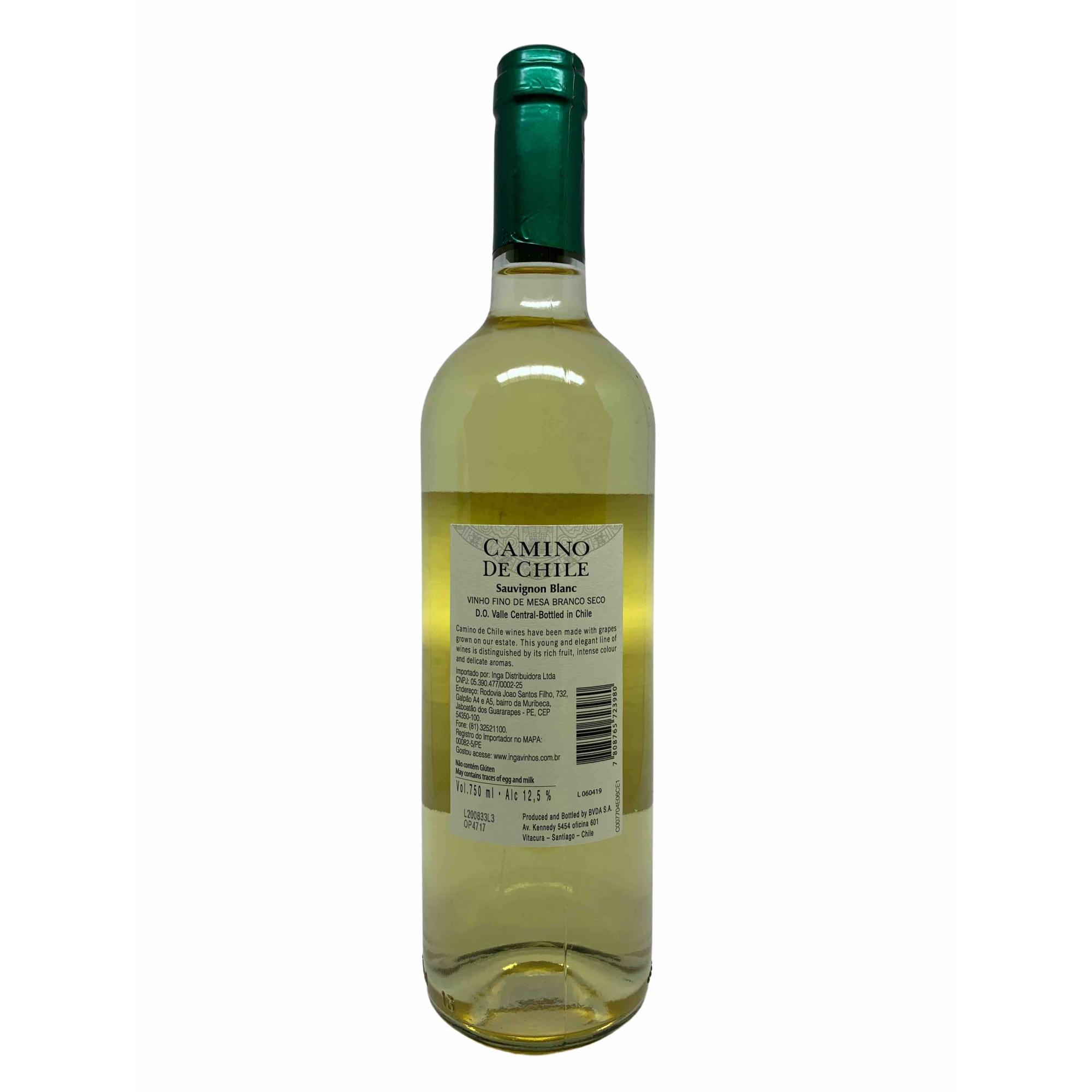 Vinho Branco Camino de Chile Sauvignon Blanc 750mL  - ADEGA FARRET
