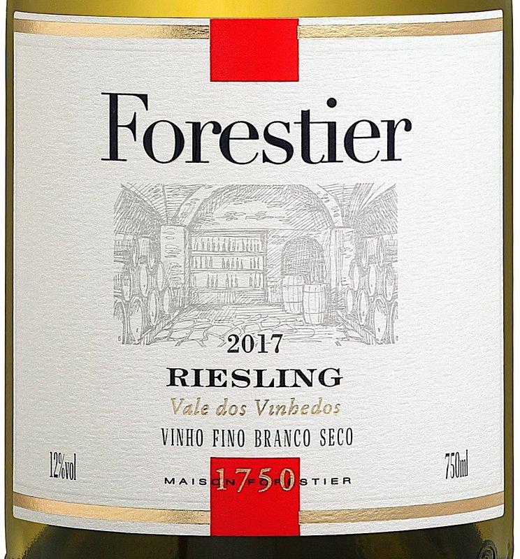 Vinho Branco Forestier Riesling 750mL  - ADEGA FARRET