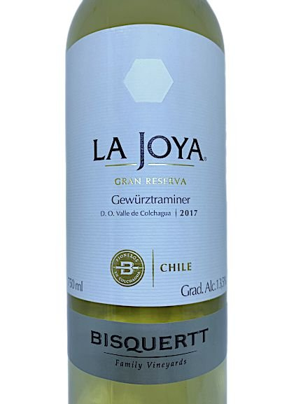 Vinho Branco La Joya Gran Reserva Gewürztraminer 750mL  - ADEGA FARRET
