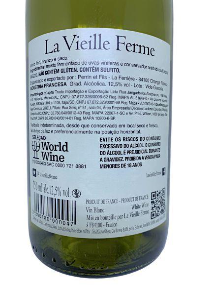 Vinho Branco La Vieille Ferme 750mL  - ADEGA FARRET