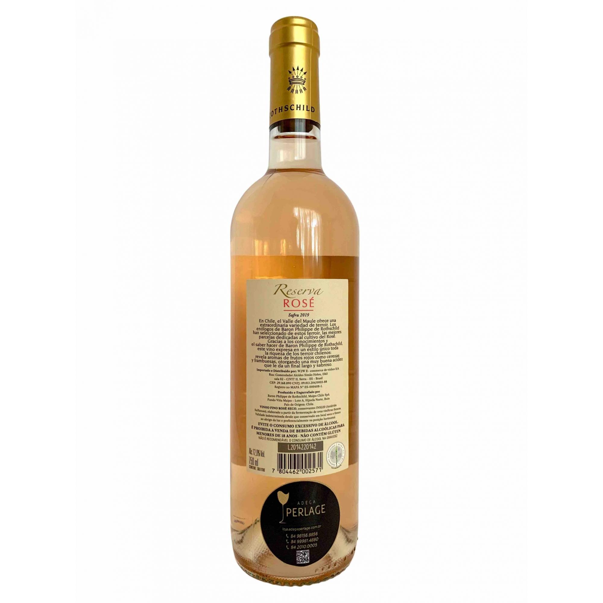Vinho Rosé Baron Philippe de Rothschild Reserva 750mL  - ADEGA FARRET