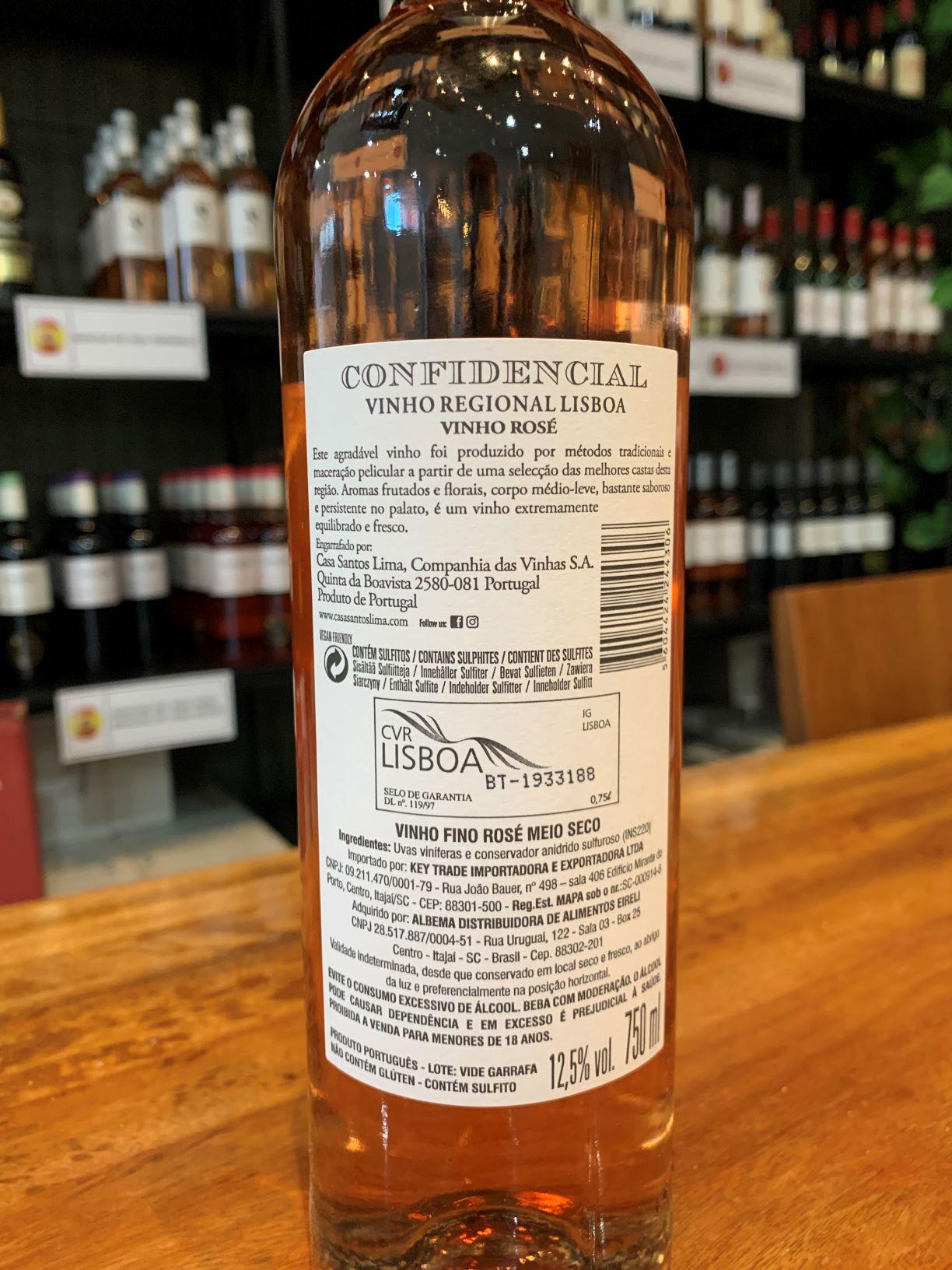 Vinho Rose Confidencial Reserva 750ml  - ADEGA FARRET