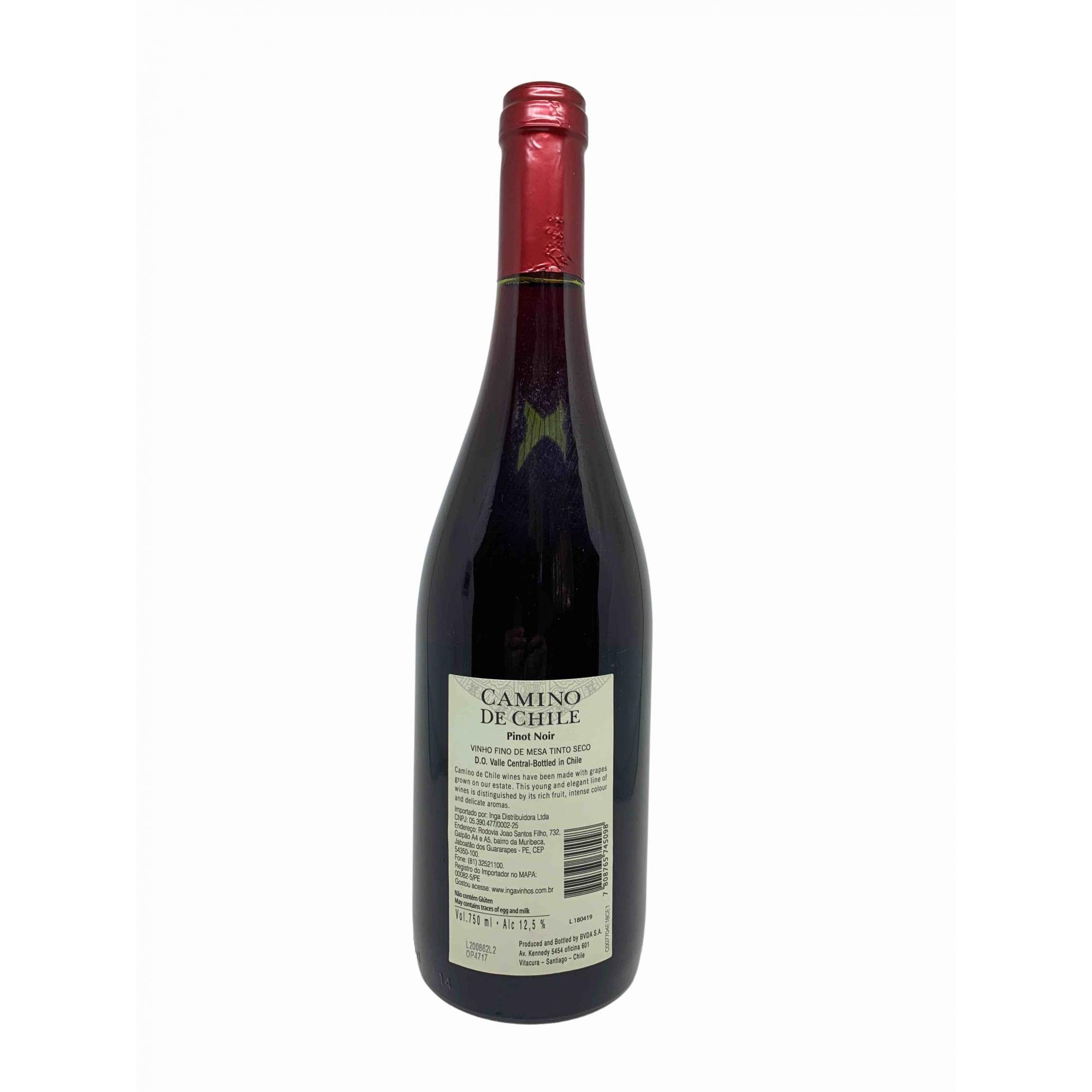 Vinho Tinto Camino de Chile Pinot Noir 750mL  - ADEGA FARRET