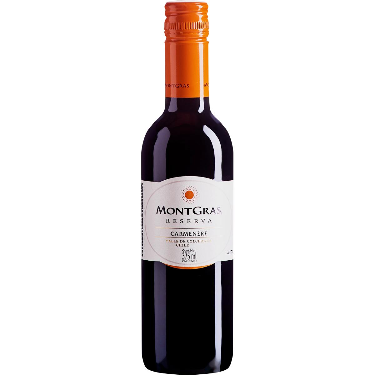 Vinho Tinto Carmenere Reserva Montgras 375mL  - ADEGA FARRET