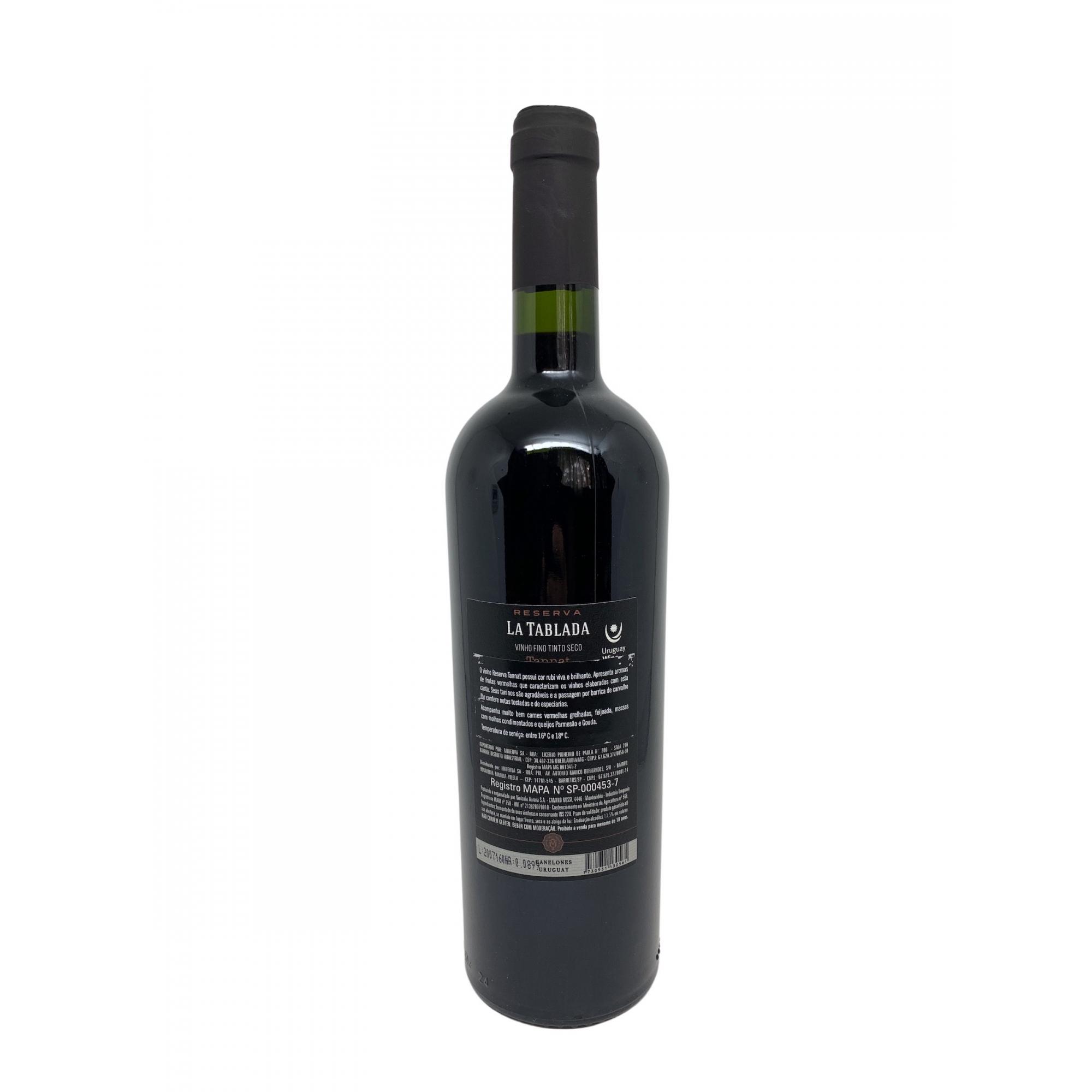 Vinho Tinto La Tablada Reserva Tannat 750mL  - ADEGA FARRET