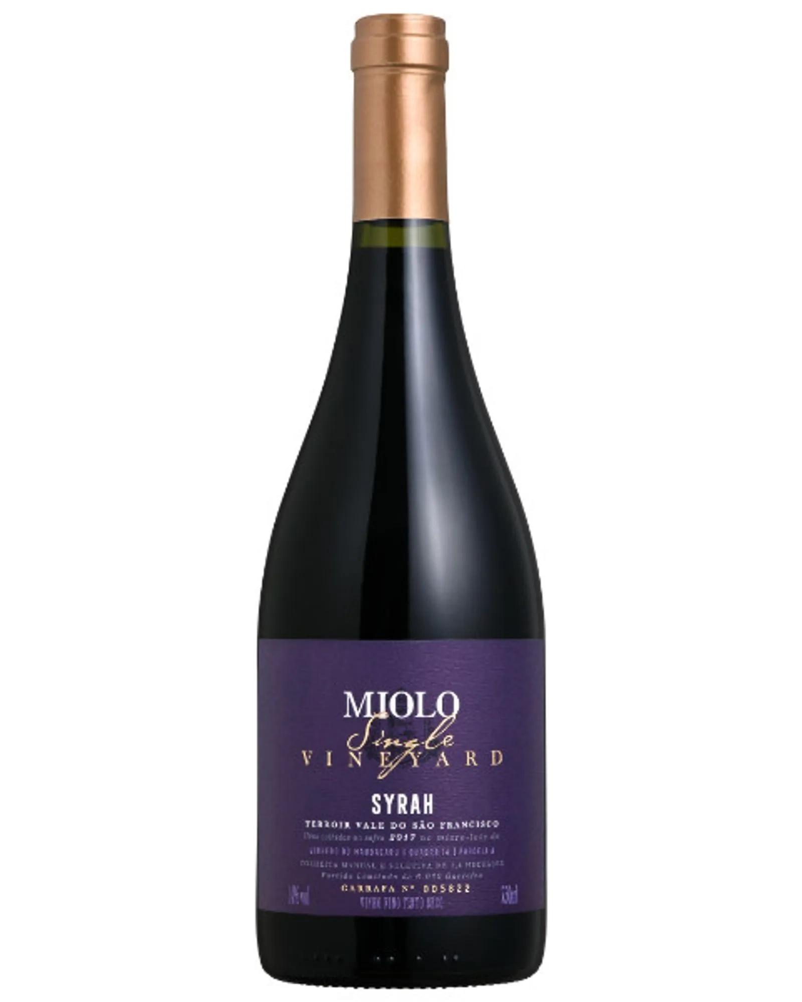 Vinho Tinto Miolo Single Vineyard Syrah 750mL  - ADEGA FARRET