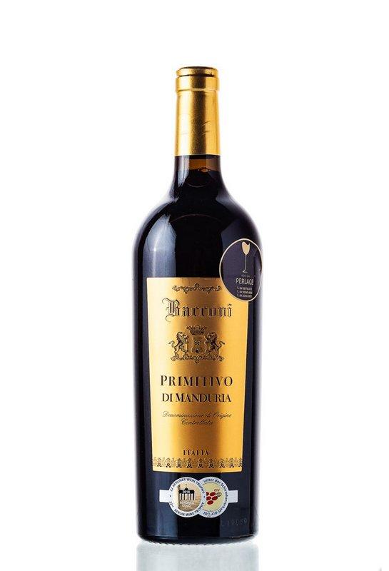 Vinho Tinto Primitivo di Manduria Bacconi DOC 2016 750mL  - ADEGA FARRET