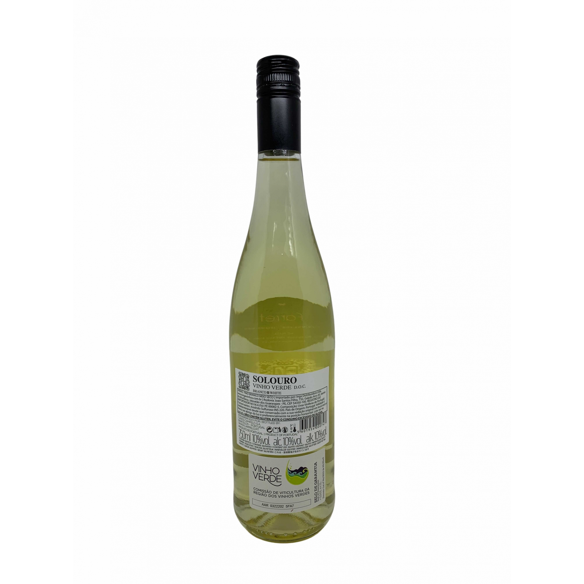 Vinho Verde Solouro DOC 750mL  - ADEGA FARRET