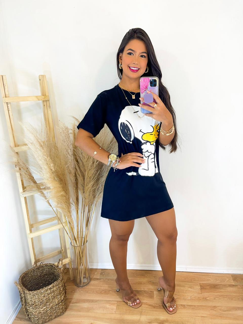 Blusão Camisão Feminino Preto