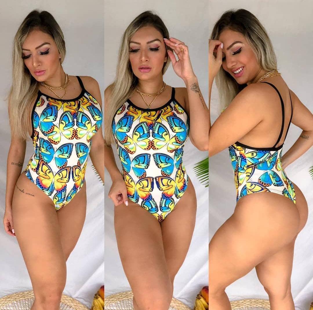 Body Feminino Maiô Cavado Butterfly