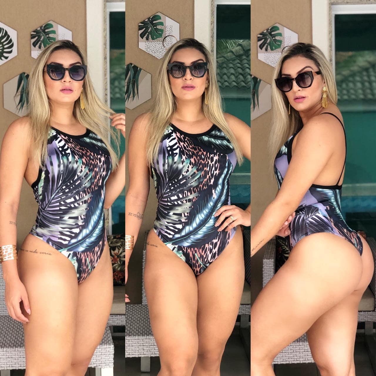 Body Feminino Maiô Cavado Onça