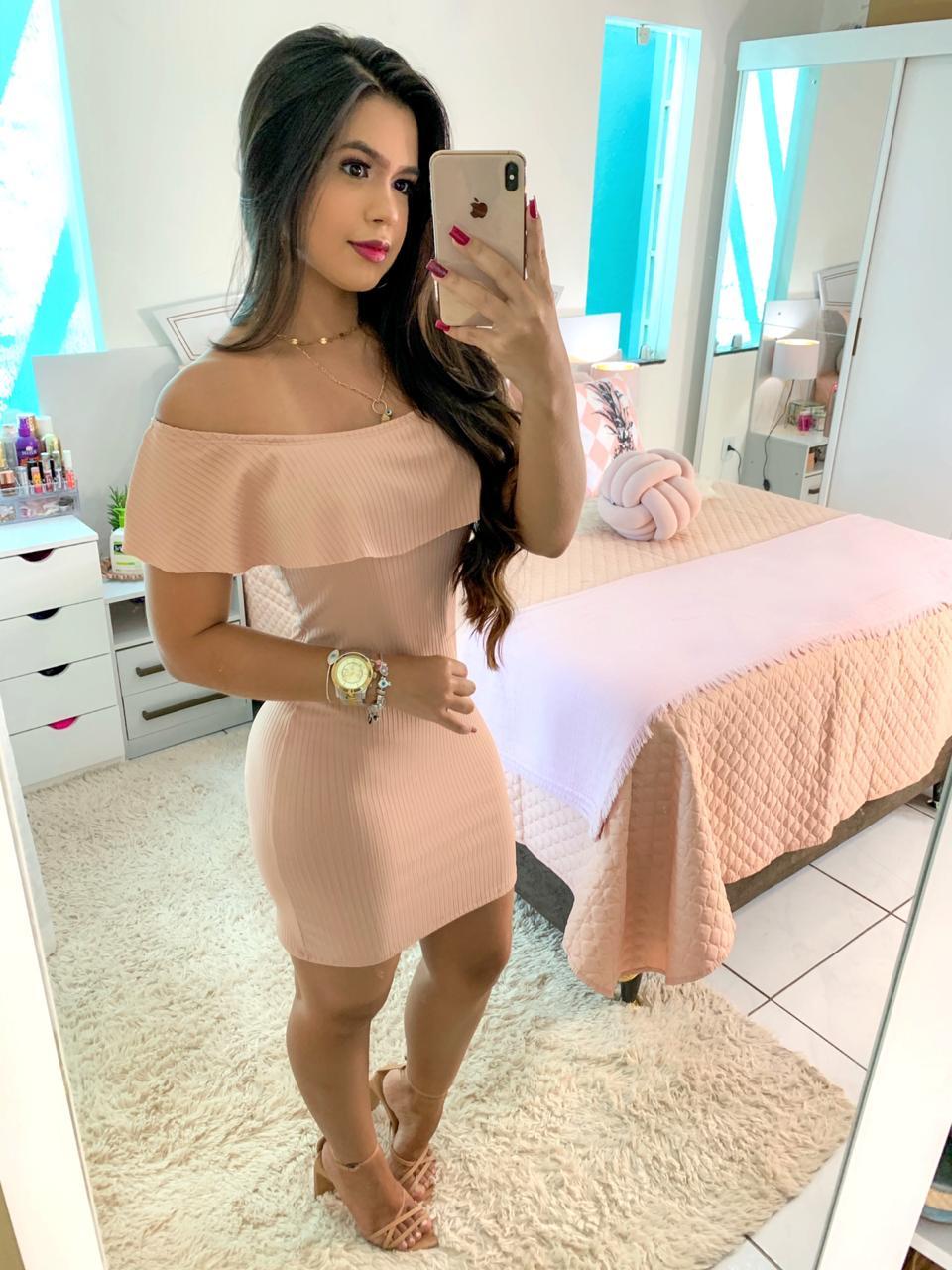 Vestido Ciganinha Curto Rose