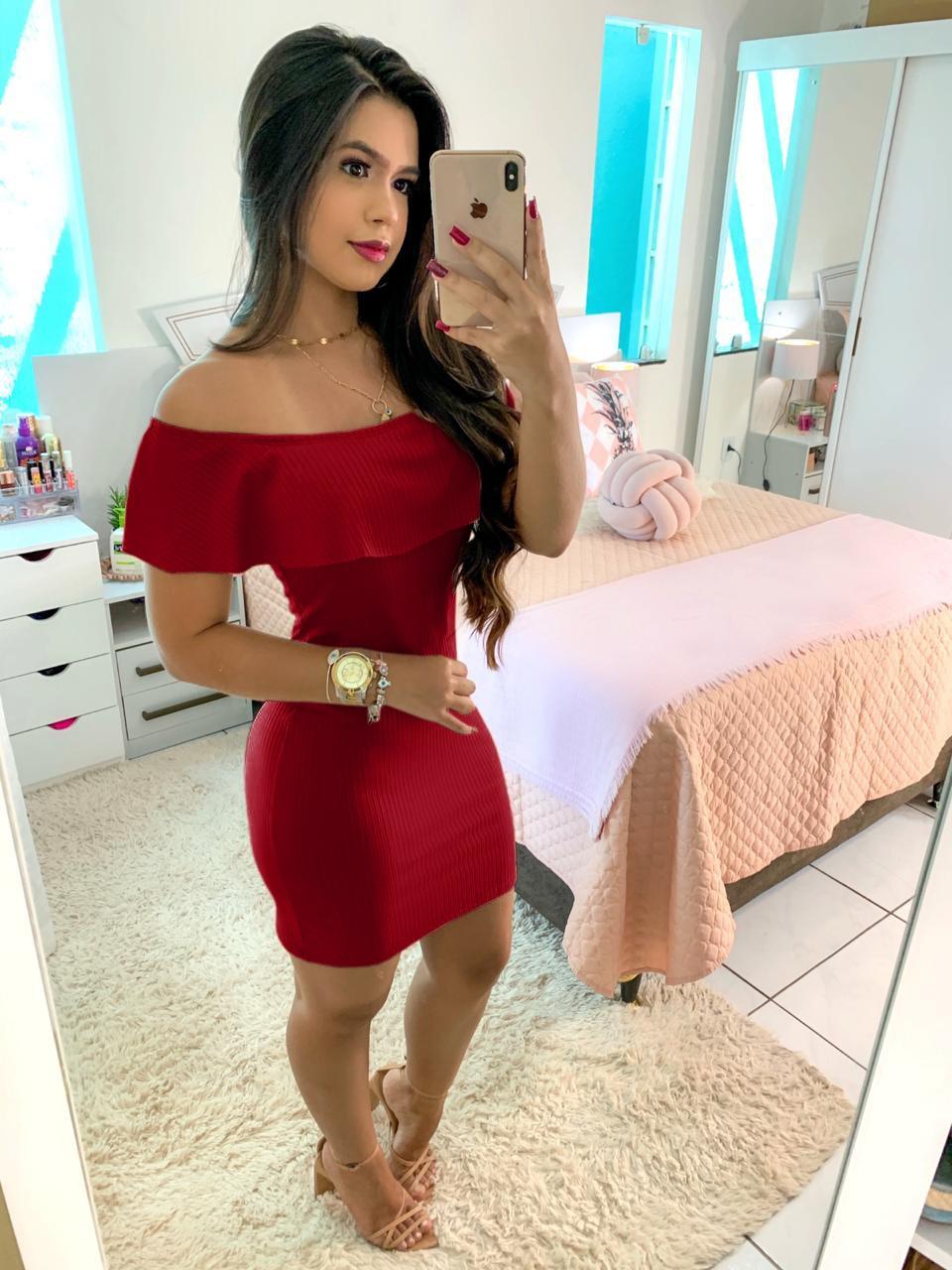 Vestido Ciganinha Curto Vermelho