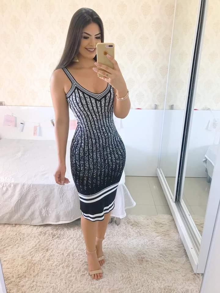 Vestido Elegante Trico Modal