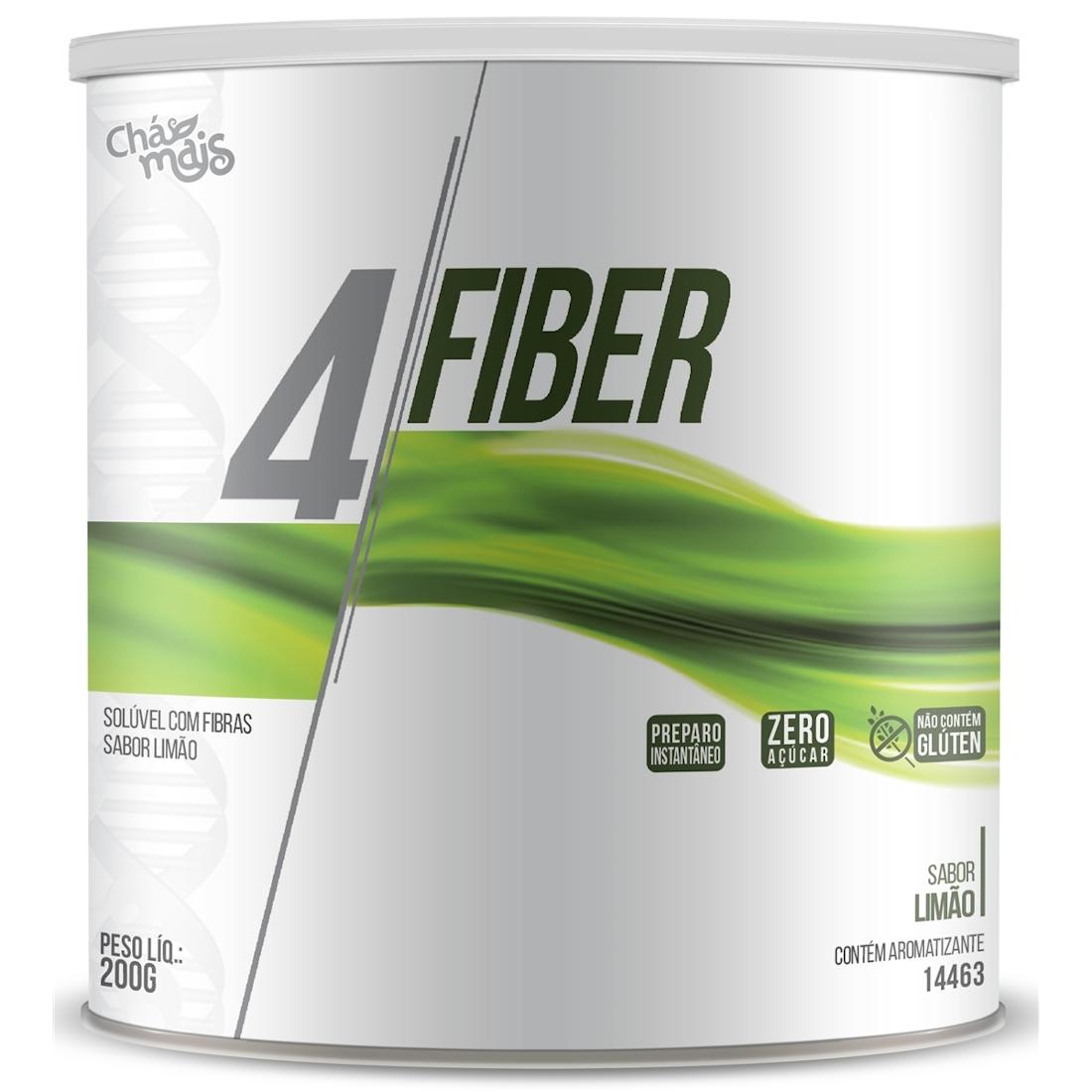 4 Fiber Solúvel de Fibras sabor Limão 200g