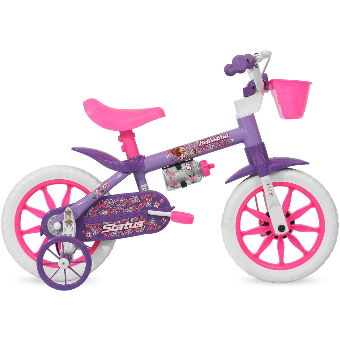 Bicicleta Aro 12 Infantil Feminina Belíssima Free Action