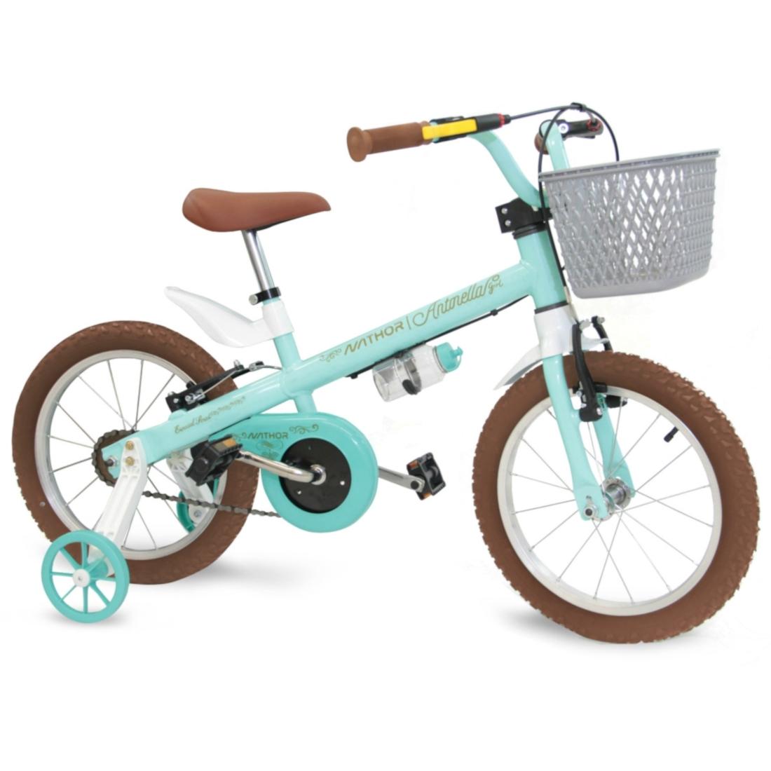 Bicicleta Aro 16 menina Antonella Verde Acqua Nathor