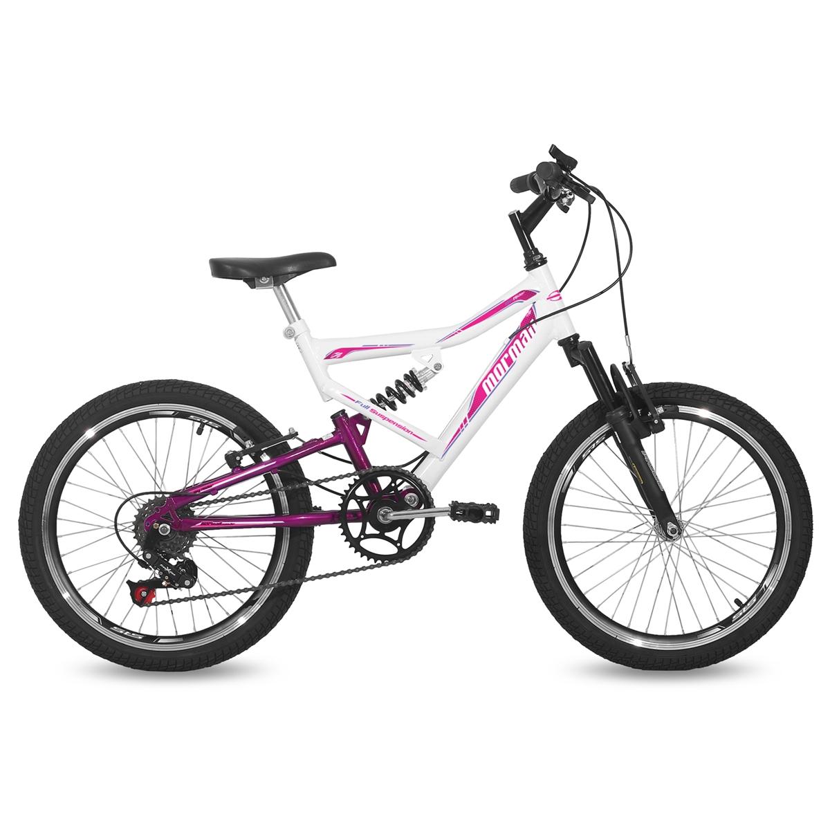 Bicicleta Aro 20 Q14 Full Suspensão 6V Big Rider Mormaii