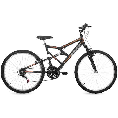 Bicicleta Aro 26 18 Marchas Full FA240  Preto Fosco Free Action