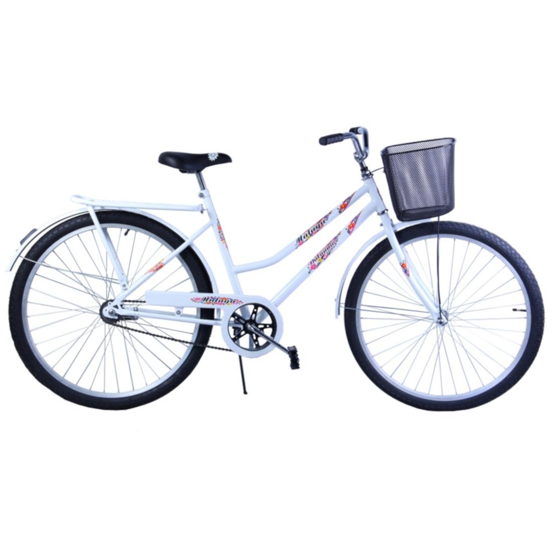 Bicicleta Aro 26 Feminina Freio no Pé CP Malaga Branca