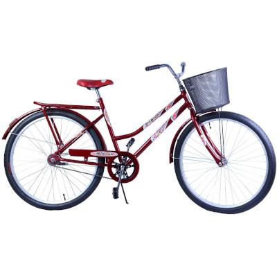 Bicicleta Aro 26 Feminina Freio no Pé CP Malaga Vermelha