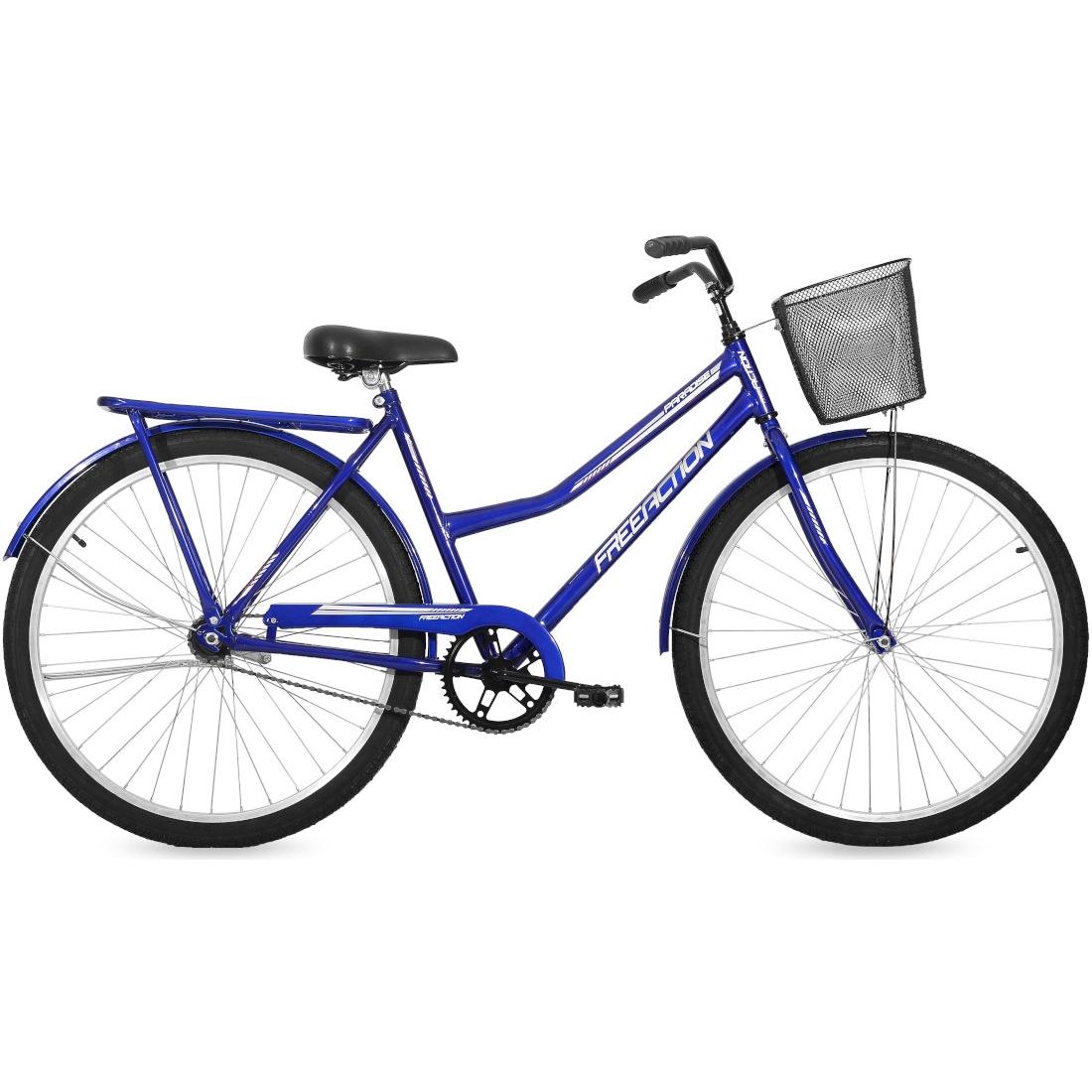 Bicicleta Aro 26 Freio no Pé com Cesta e Garupa Paradise Azul Free Action