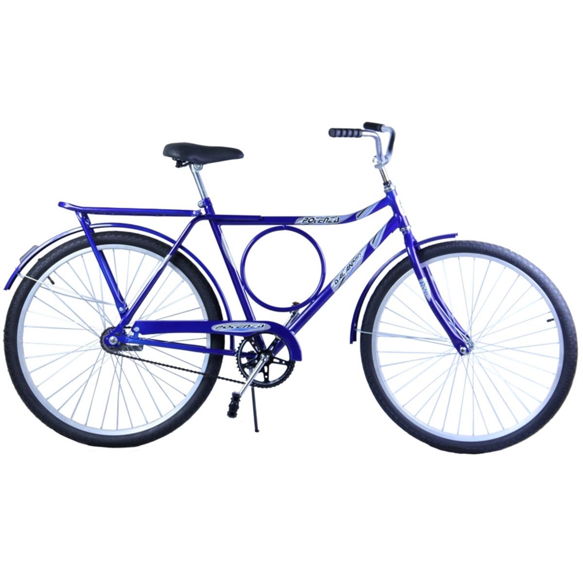 Bicicleta Aro 26 Masculina Barra Circular Freio no Pé Potenza Azul